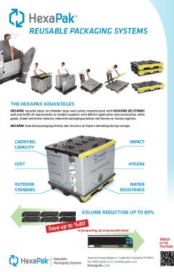 HexaPak yeniden kullanılabilir ambalaj sistemleri EN